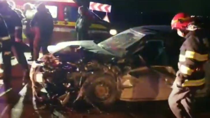Accident Valea Mare-Slatina. Foto: captură Youtube