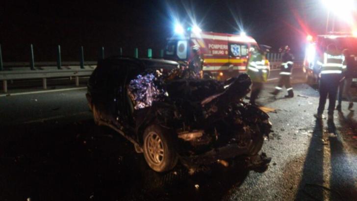 Accident cumplit la ieșirea de pe A3, județul Cluj! Un tânăr de 20 de ani se află în stare critică