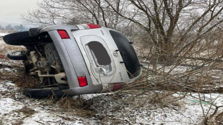 Accident cu victimă încarcerată, în județul Harghita