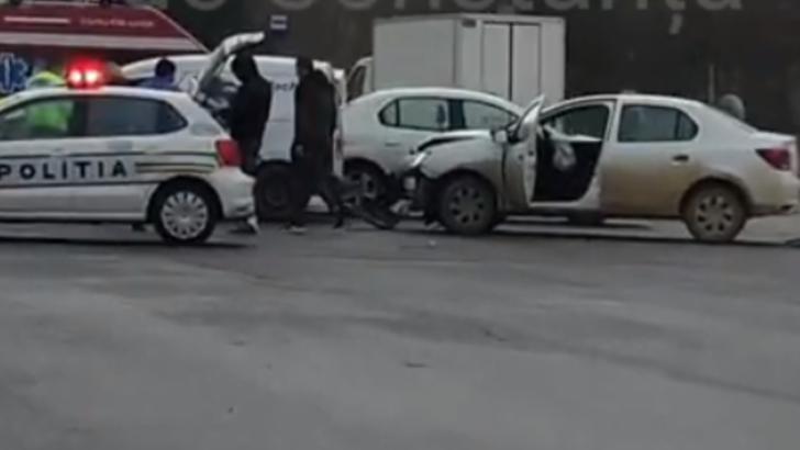 VIDEO Carambol rutier spectaculos la Constanța