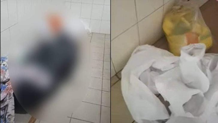 Imagini tulburătoare: morți Covid, ținuți pe jos, în mizerie, într-un spital din România