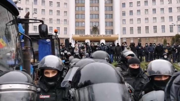 Protest al fermierilor la Chișinău. Foto: captură Facebook