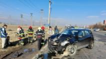 Accident ÎN LANȚ cu cinci victime în Slobozia