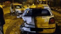 FOTO A făcut praf două mașini și a dispărut