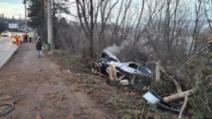 FOTO Accident teribil în Suceava. Un pieton grav rănit, șoferul în stop cardiac