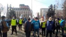 VIDEO Protest al angajaților din penitenciare, poliție și sindicatelor afiliate Cartel Alfa