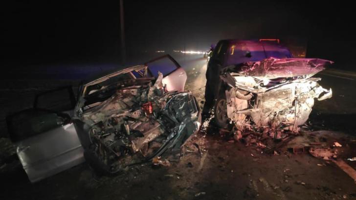 Accident cu 5 mașini în Vrancea. Foto: ISU Vrancea
