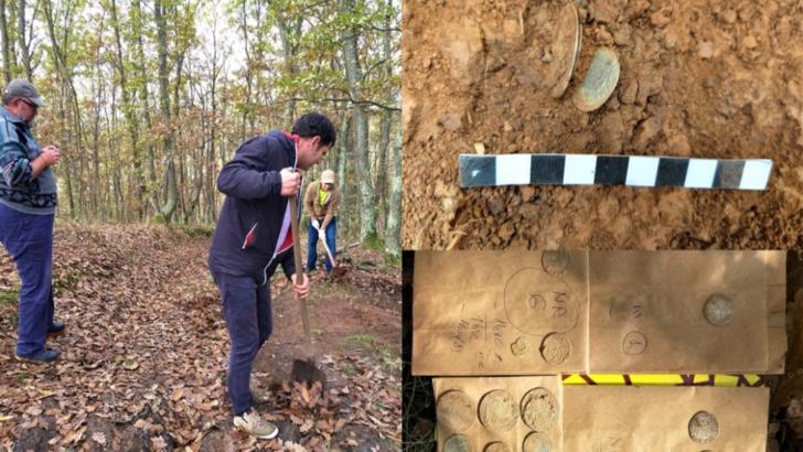 Tezaur monetar descoperit de un pasionat de arheologie din Zalău! Monedele, emise acum aproximativ 500 de ani