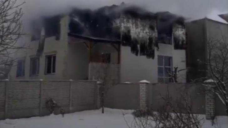 Incendiu la un azil de bătrâni din Ucraina. Foto: captură YouTube