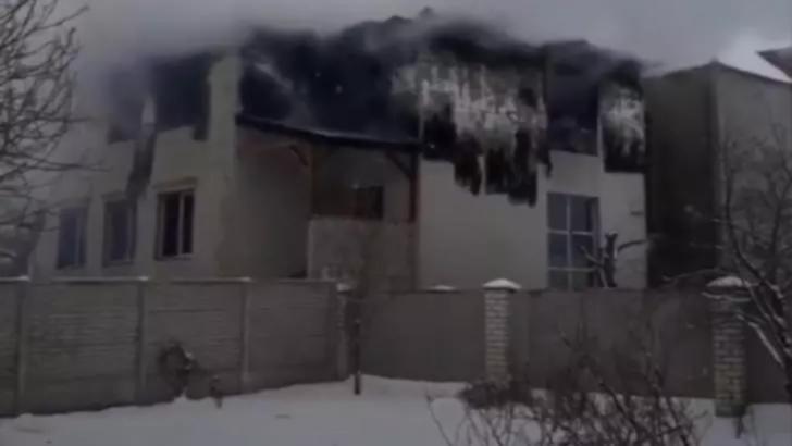 Incendiu Ucraina. Foto: captură YouTube