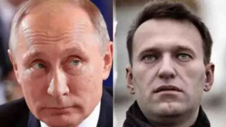 Vladimir Putin și Aleksei Navalnîi
