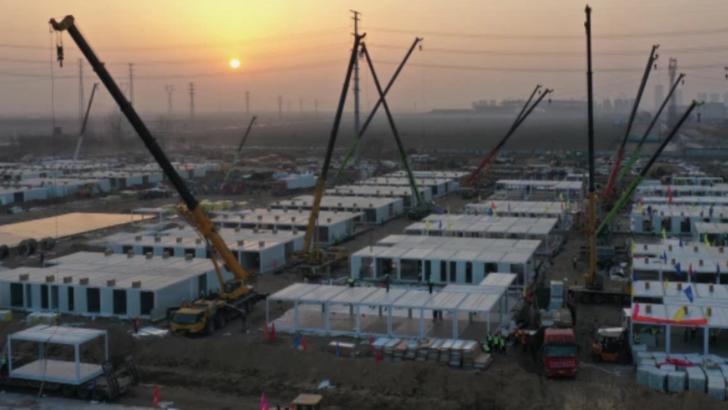 RECORD în China: Spital COVID, ridicat în doar 5 zile