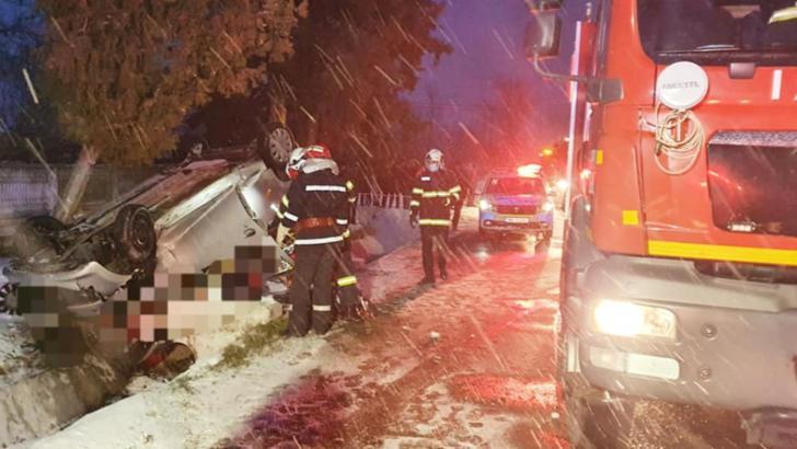 FOTO Accident TERIBIL în Teleorman: o femeie a murit și alta a fost rănită