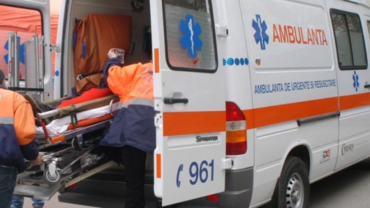 Ambulanță accidentată la Maramureș