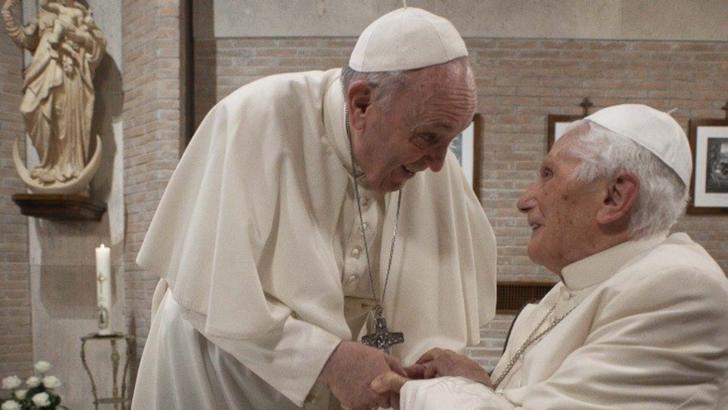 Papa Francisc, în vizită la papa emerit Benedict XVI în 28 noiembrie 2020  Foto: VaticanNews.va