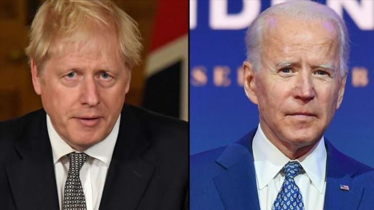 """Boris Johnson, după învestirea președintelui SUA: """"Sunt nerăbdător să colaborez cu preşedintele Biden"""""""
