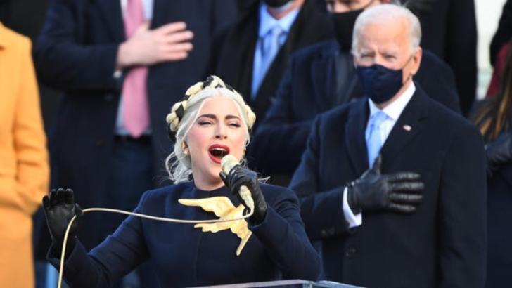Ceremonie învestitură SUA - Joe Biden. Imnul național a fost cântat de Lady Gaga