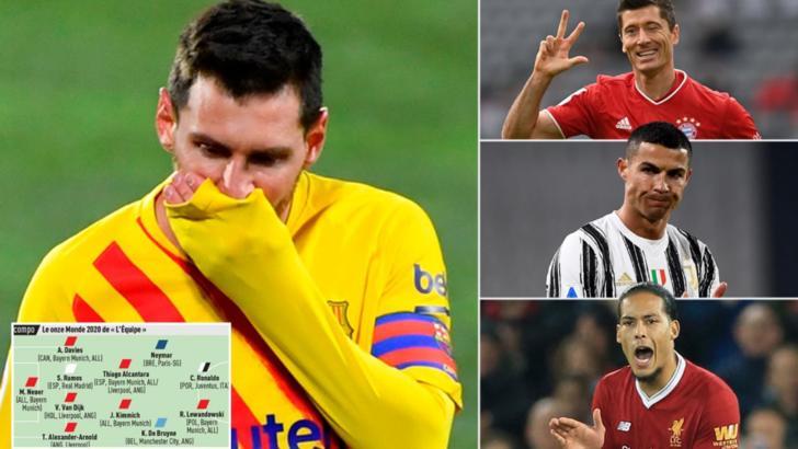 Messi nu a mai prins echipa ideală! Ronaldo şi Lewandowski i-au luat faţa
