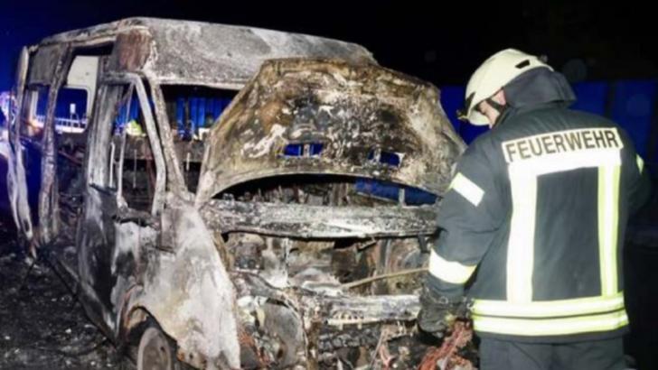 FOTO Au văzut moartea cu ochii, în Germania. Cum au scăpat doi români dintr-un incendiul devastator