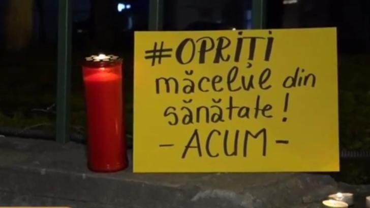 Protest la Matei Balș