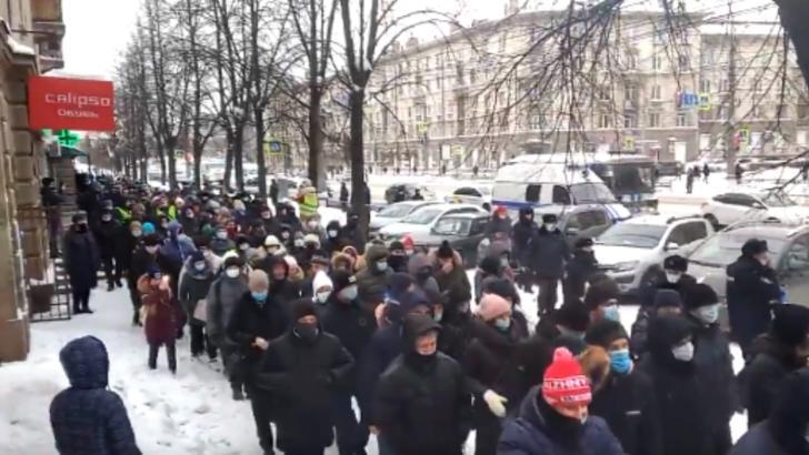 Rușii cer în stradă eliberarea opozantului Aleksei Navalnîi