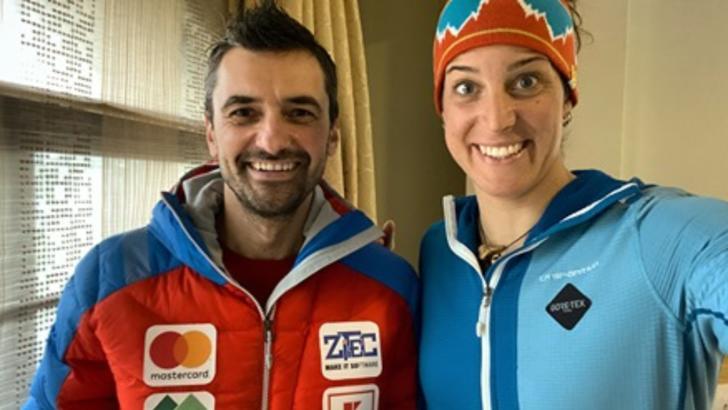 Alex Găvan și italianca Tamara Lunger, în asecensiune pe K2 din Himalaya fără oxigen suplimentar, ianuarie 2021 Foto: Facebook.com