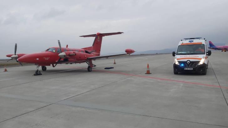 Avionul SMURD care urma să facă transportul în Belgia s-a depresurizat după decolare