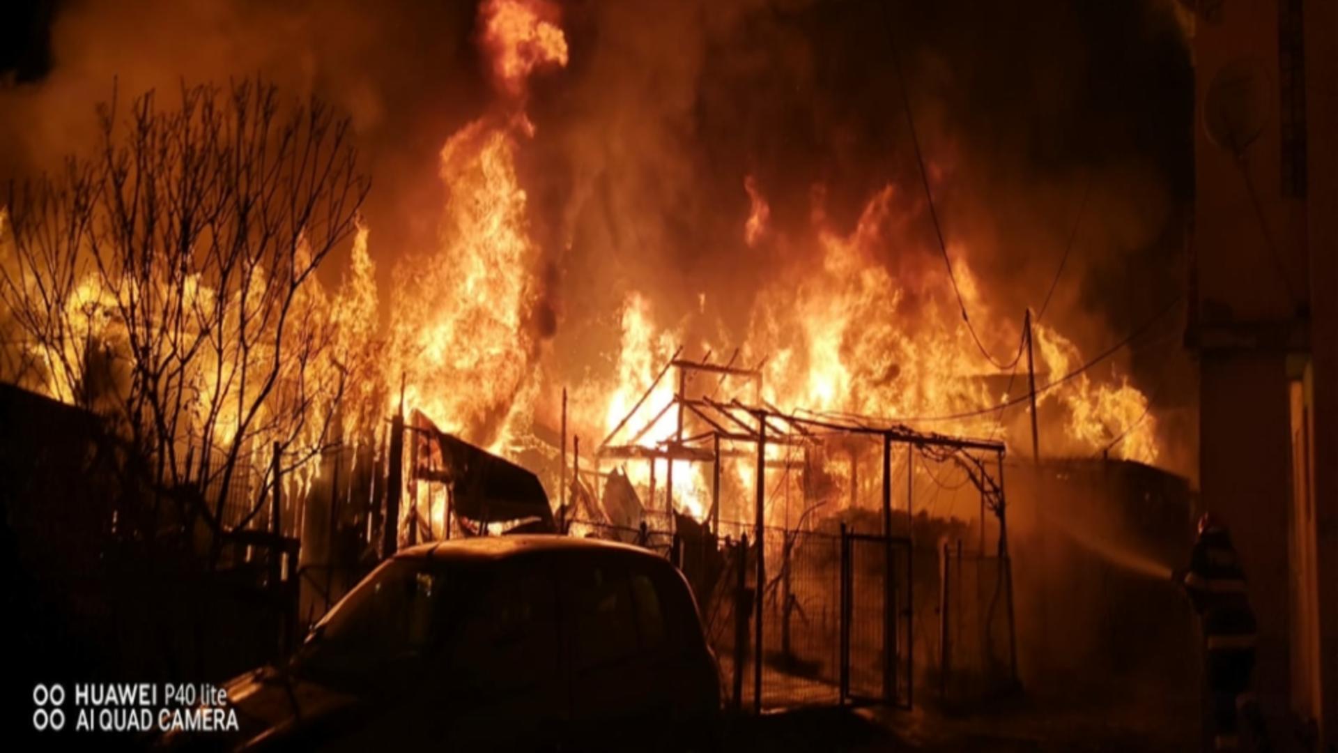 Incendiu puternic Suceava