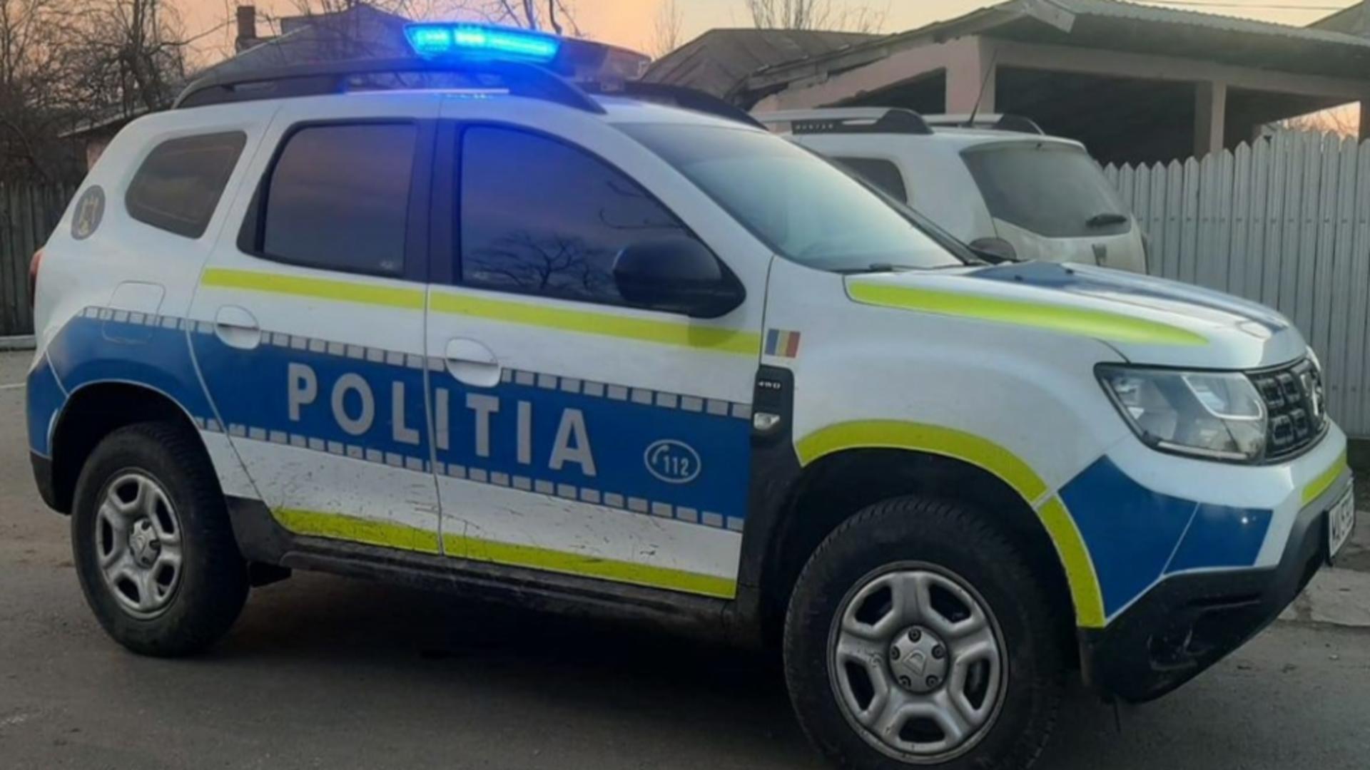 Intervenție a poliției la un scandal din județul Gorj