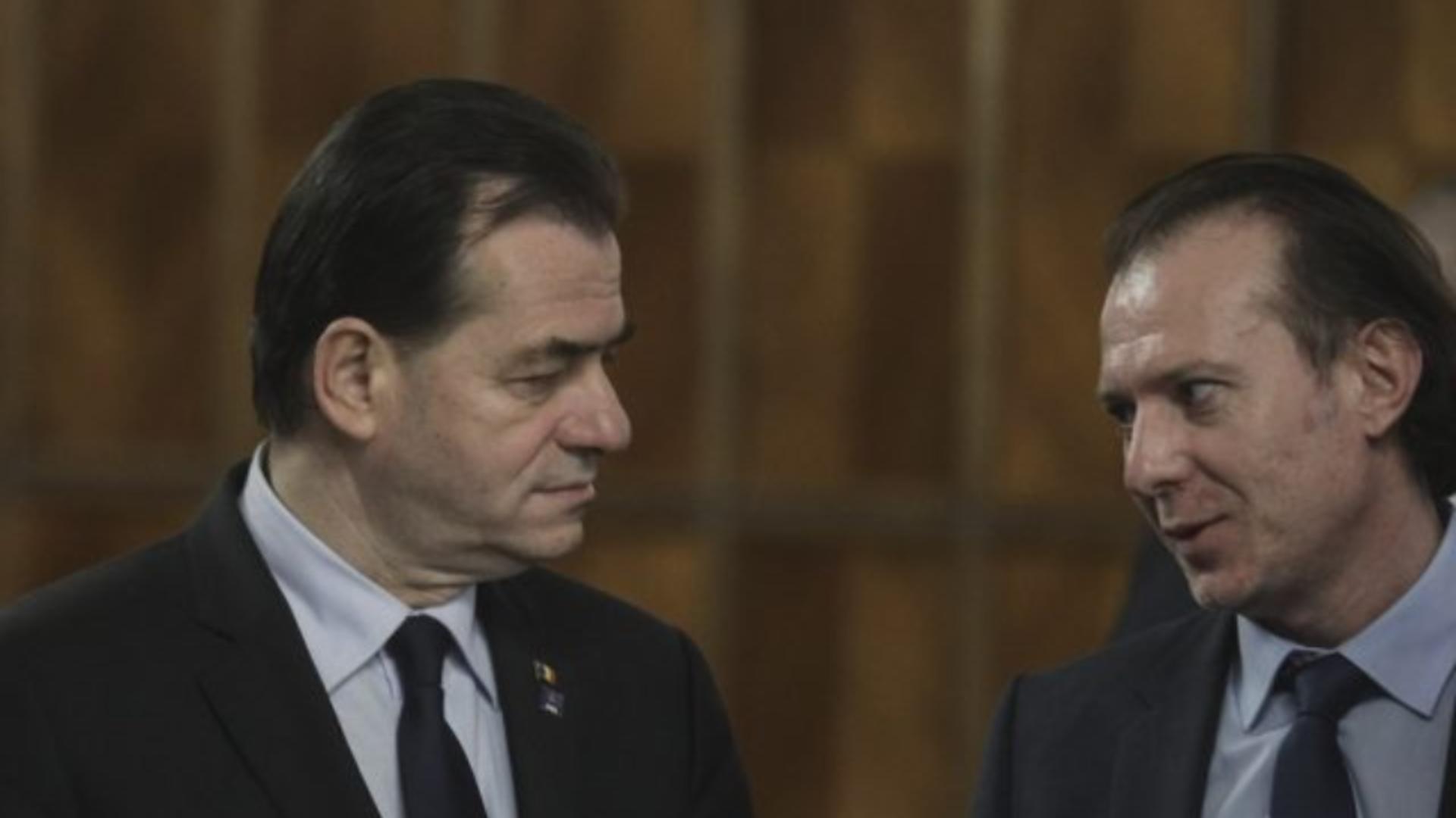 Florin Cîțu și Ludovic Orban (sursă: Inquam/Octav Ganea)