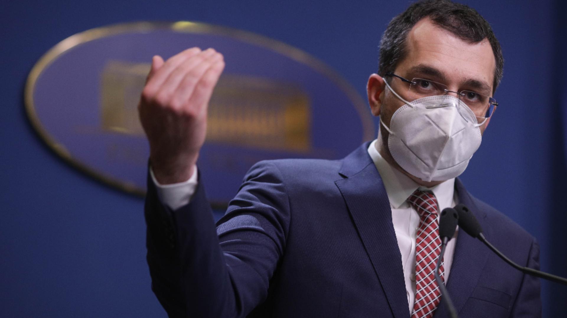 Ministrul Sănătății - Vlad Voiculescu / Foto: INQUAM