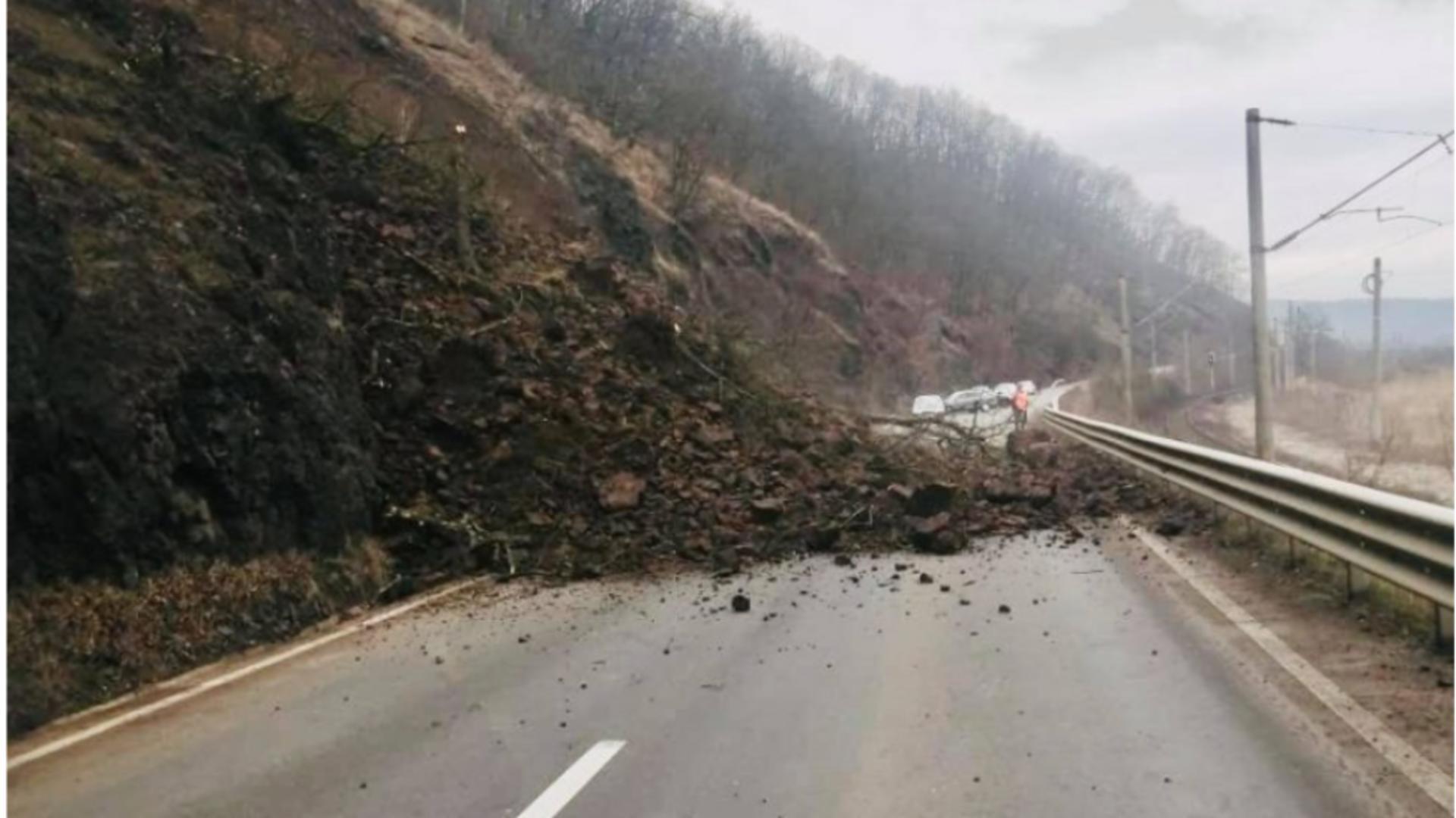 Alunecare teren DN7 Arad