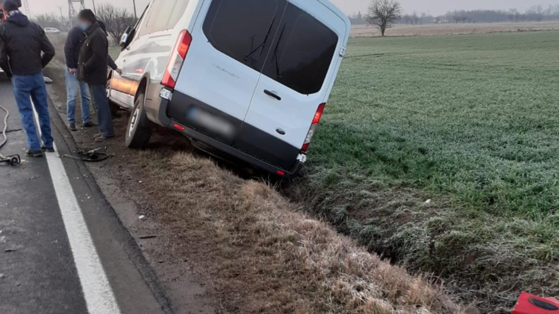 Accident în județul Dâmbovița (sursă: ISU Dâmbovița)