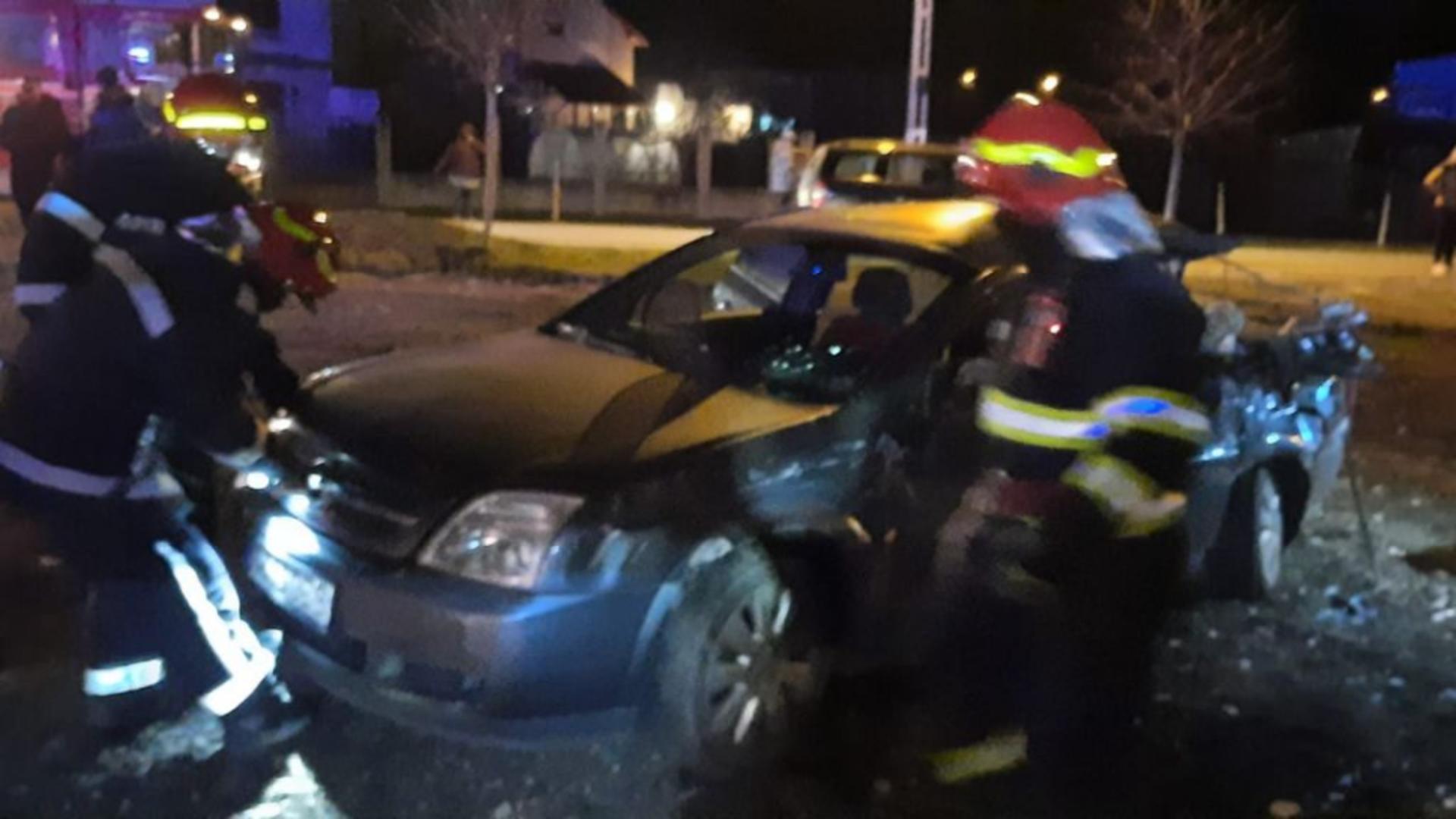Accident feroviar în apropiere de Timișoara (foto: ISU Banat)