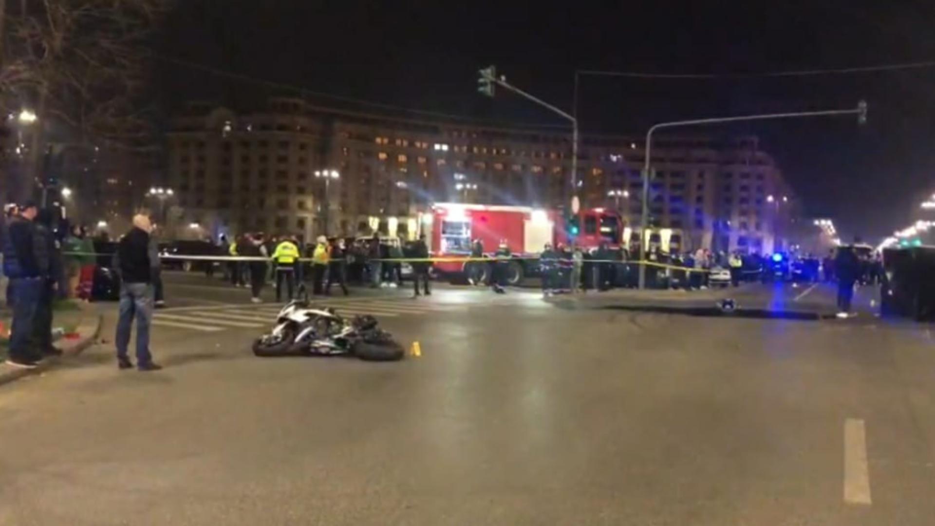Accident grav în fața Palatului Parlamentului