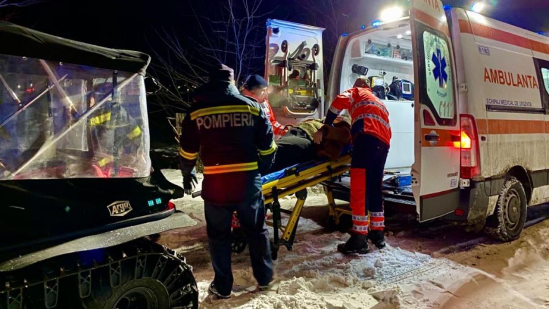 Intervenție cu șenilata, județul Botoșani (sursă foto: botosaneanul.ro)
