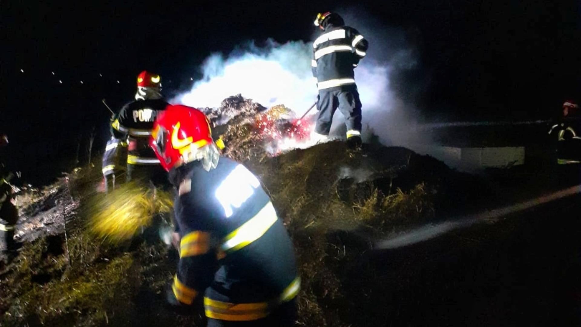 20 de tone de furaje au ars la un depozit din județul Giurgiu