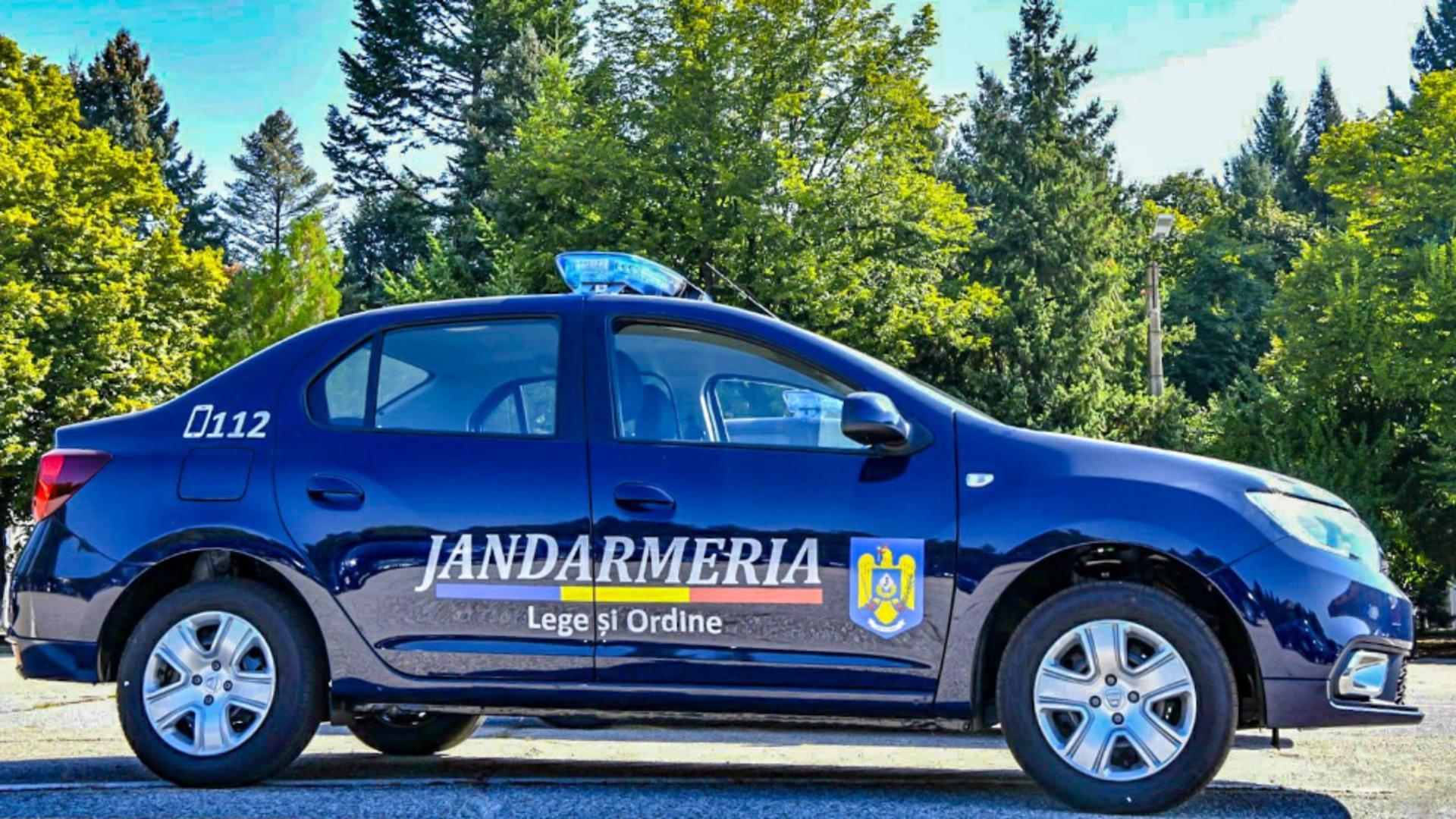 Militar in rezerva, pus la pamant de jandarmi/foto: Facebook Jandarmeria Romana