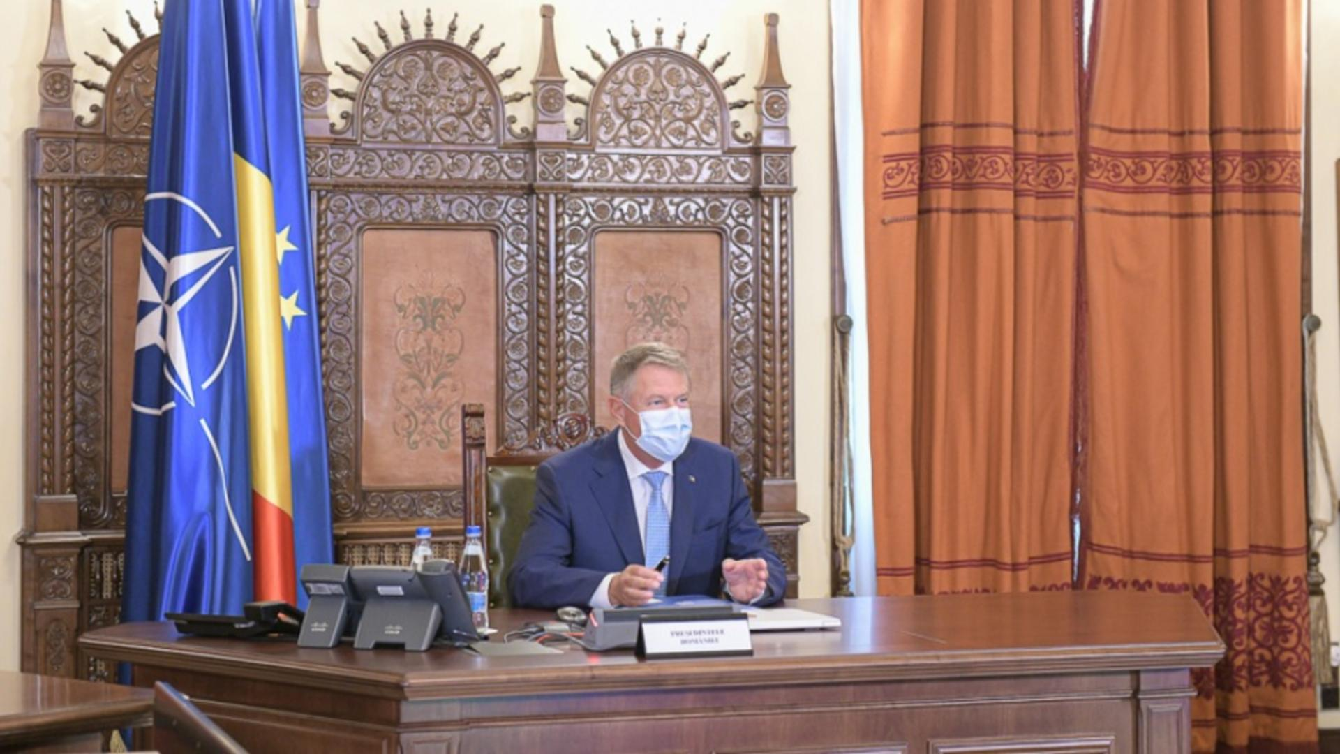 Președintele Klaus Iohannis a convocat ședința CSAT / Foto: Administrația Prezidențială