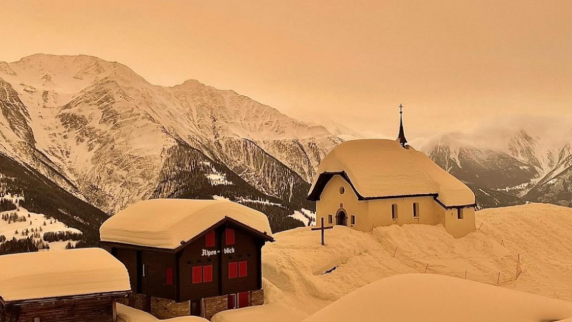 Praf saharian in Alpi (foto: planetski.ru)