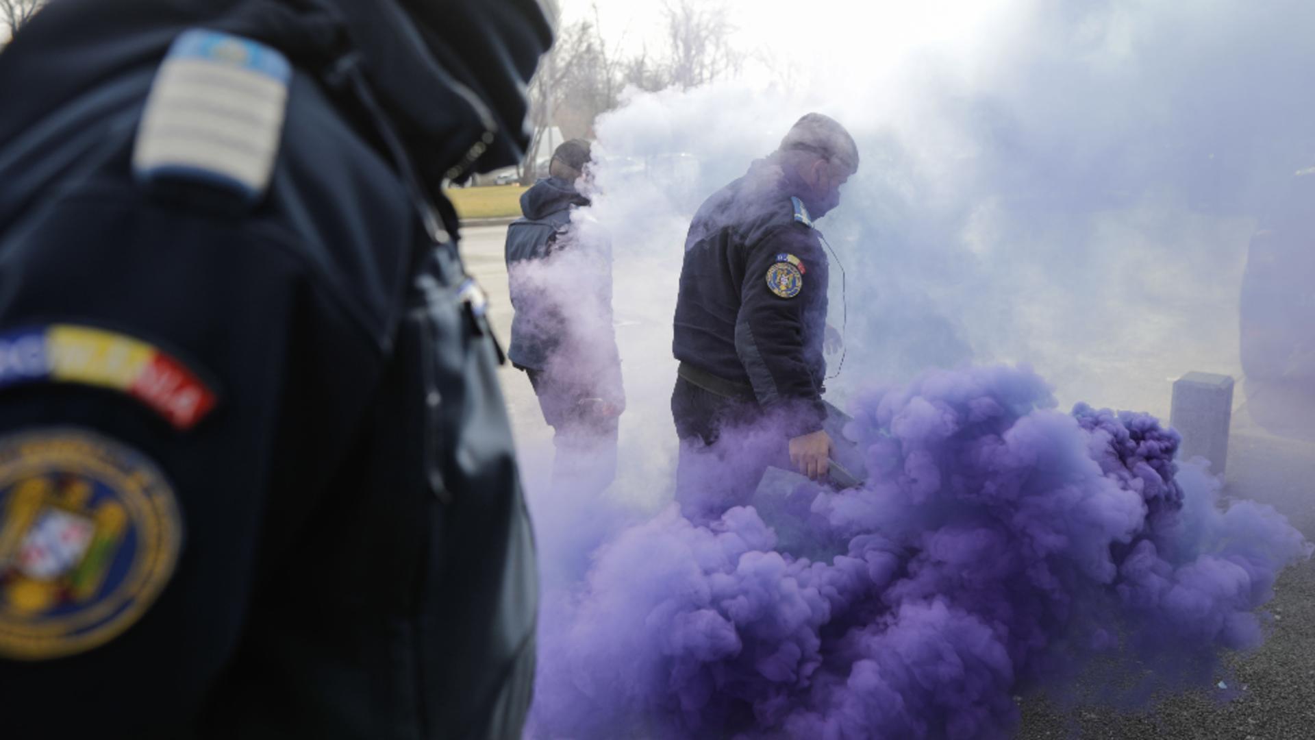 Proteste polițiști la Palatul Cotroceni, 24 februarie 2021 Foto: InquamPhotos/George Călin