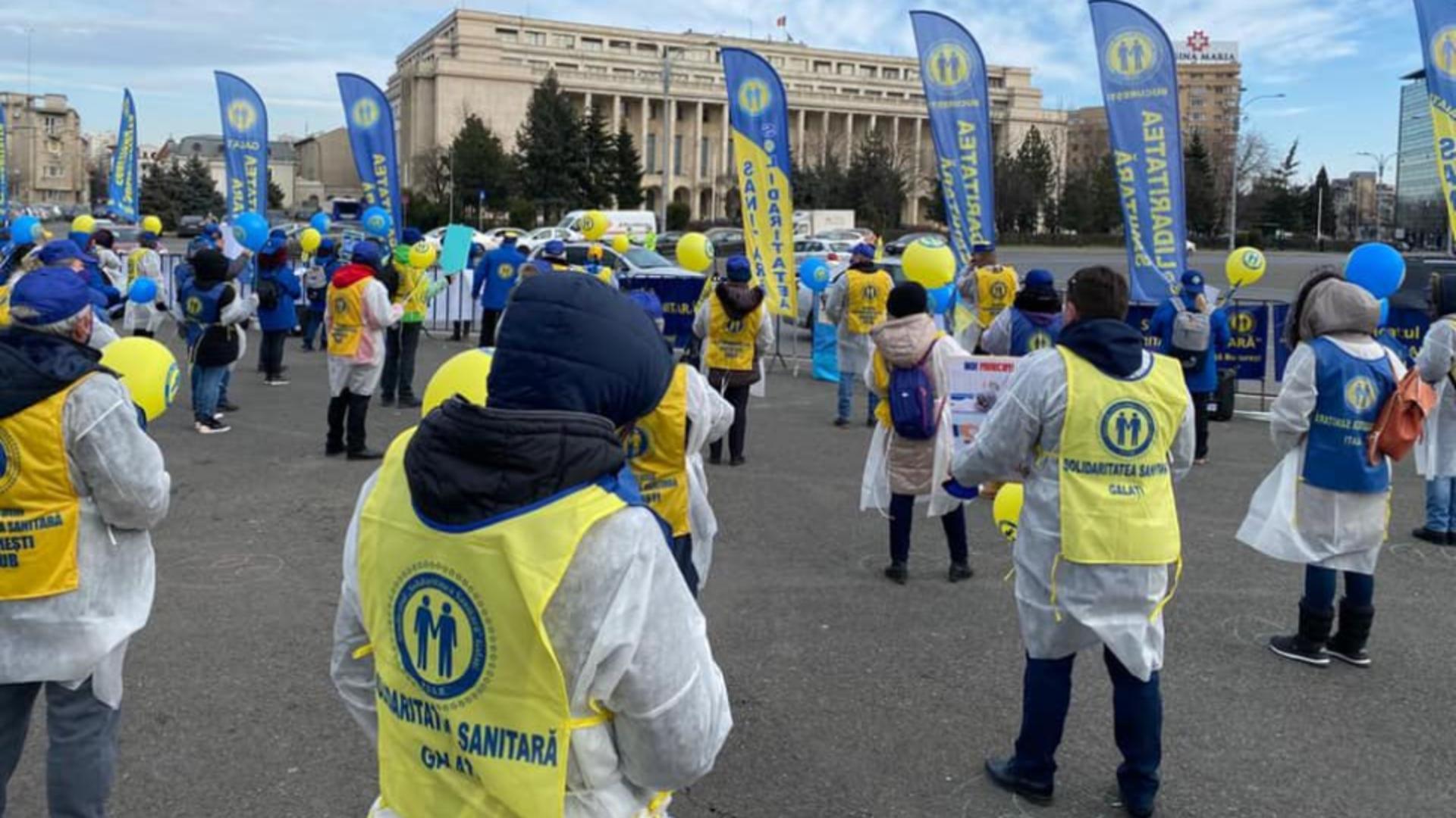 Proteste anuntate de sindicatele din sanatate Foto Facebook SS