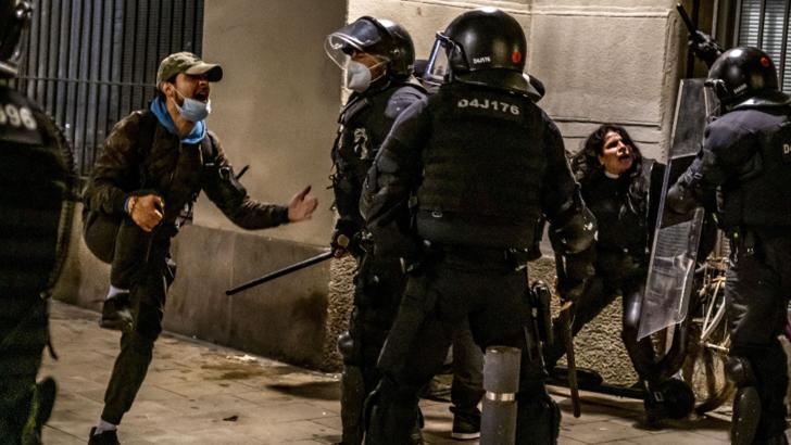 Proteste la Barcelona. Foto: Profi Media