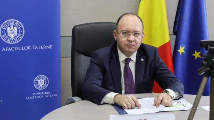Intalnire intre ministrii de externe roman si maghiar/foto: Twitter Bogdan Aurescu
