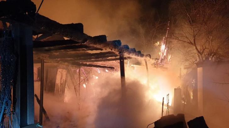 Incendiu în localitatea Gugești, Vrancea.