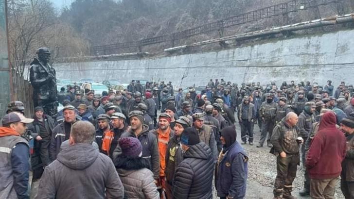 Protest al minerilor din Valea Jiului, februarie 2021