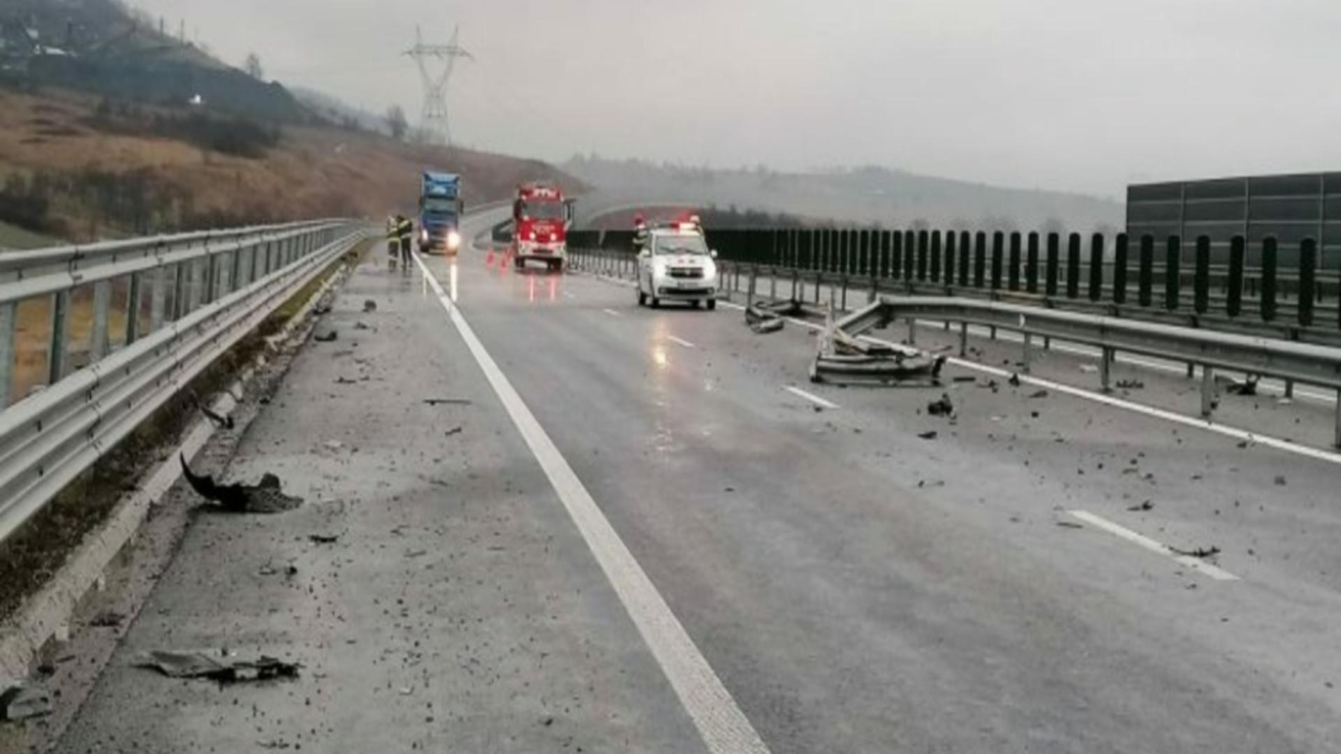 Accident A1, sensul de mers Deva-Holdea