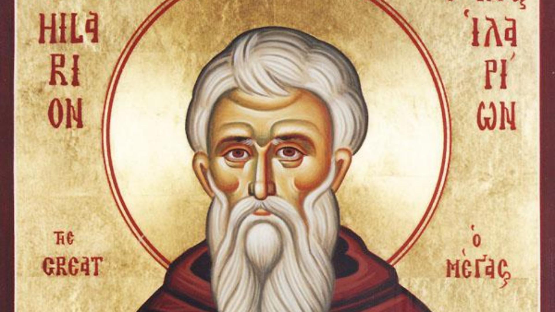 Sfântul Cuvios Ilarion cel Nou, prăznuit pe 28 martie