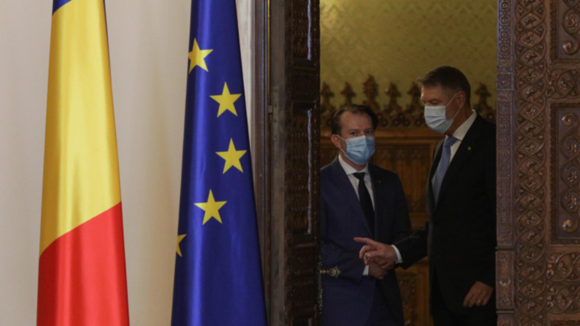 Președintele Klaus Iohannis și premierul Florin Cîțu