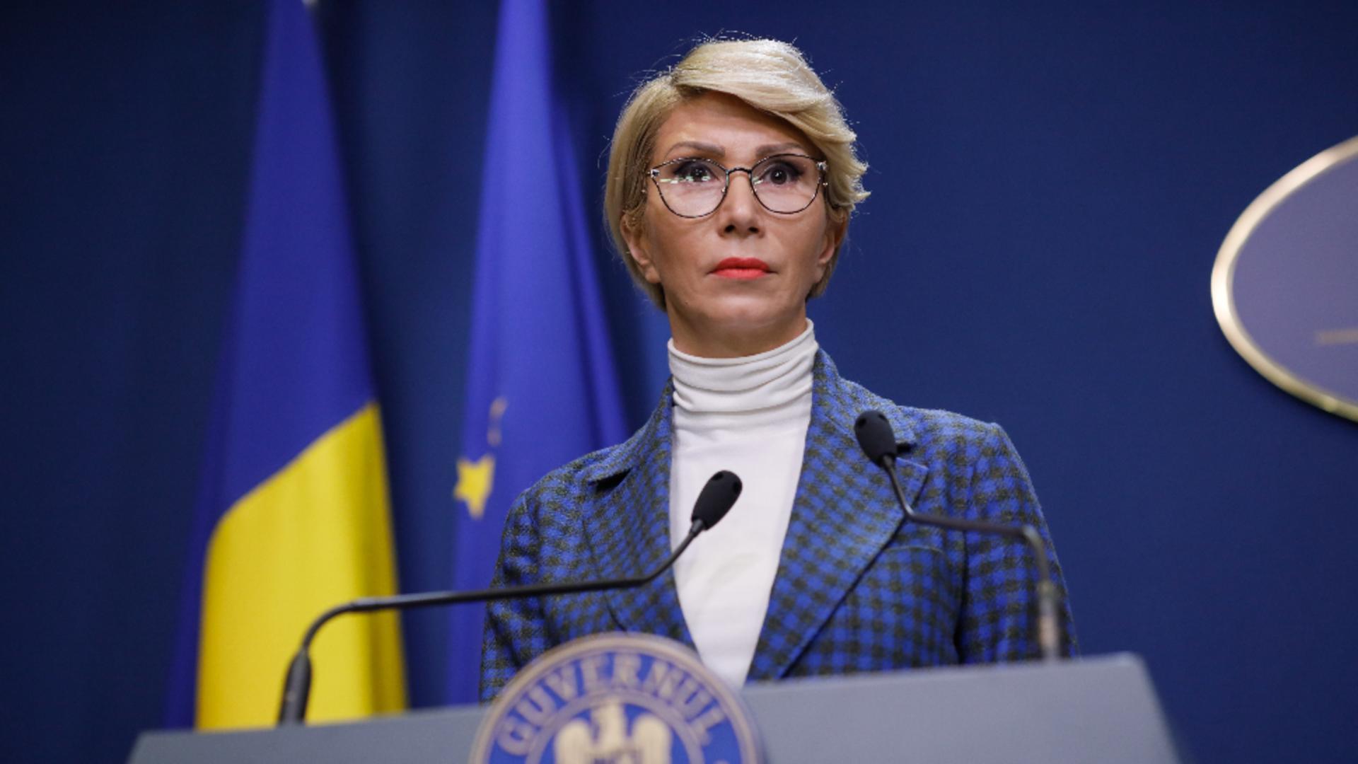 Raluca Turcan, ministrul Muncii Foto: InquamPhotos/George Călin